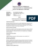 VISIÓN DEL ESTUDIO ORGANIZACIONAL