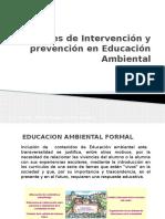 Niveles de Intervención en Educación Ambiental