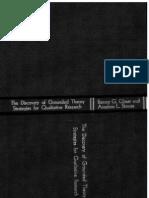 The Discovery of Grounded Theory اكتشاف النظرية المجذرة