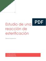 Informe de Planeacion Reaccion de Esterificación