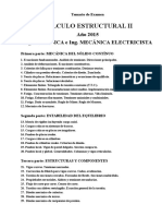 Temario de Examen Estructural 2016