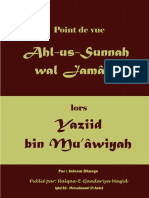Point de Vue Ahl Us Sunnah Lors Yaziid Bin Mu'âyah