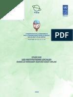 Etudes Sur Institutions Locales Dans Le Versant Sud Du Haut Atlas