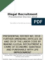 Illegal Recruitment Presentation