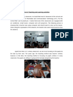 Information of Innovation in Teaching and Learning Activities