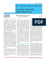 Indian Steel Industry Growth Prospects Overseas