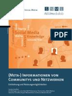 (Meta-) Informationen von Communitys und Netzwerken. Entstehung und Nutzungsmöglichkeiten