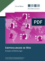 Empfehlungen im Web. Konzepte und Realisierungen