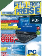PC-Spezialist Sonderflyer Juni 2008