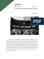 Opacidade Transitiva Para Ocupação Ou Duas Expulsões Da Arte-política Contemporânea - Henrique XAVIER