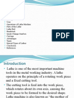 Introduction Lathe Machine Ppt