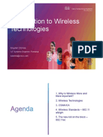 01 Introduction to Wireless Technologies and Standards