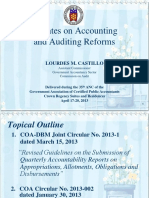 Updates on Accounting and Auditing Reforms