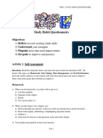 Study Habit Questionnaire