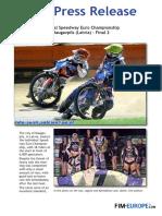 202 2016 Individual Speedway Euro Championship at Daugavpils Latvia