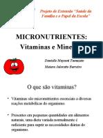 Palestra Vitaminas e Minerais