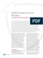 Ds Siem Solutions From Mcafee