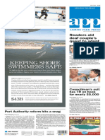 Asbury Park Press front page Monday, Aug. 8 2016