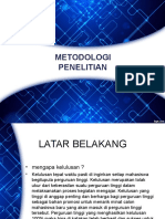 Metologi Penelitian