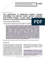 The significance of indigenous weather forecast knowledge and practices under weather variability and climate change