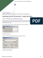 Remove an Excel VBA Password With a HEX Editor _ DavidBugden