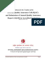 IQAC Guidelines & AQAR Format Jan2014