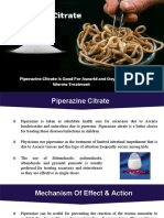 Why Piperazine citrate is a perfect for treating?