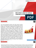 IDS 2016 How to Infuse Interest of Tax Evaders