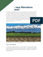 Existe Una Literatura Tucumana