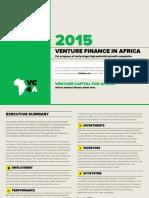 Venture Finance in Africa 2015