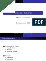 Conservação de Energia - Formulação Integral - Máquinas