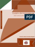 Gazeta învățătorilor, nr. 12 (ianuarie-iunie 2016)