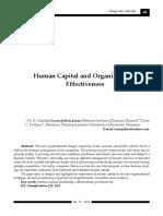 Leadership Si Comportament Organizational - Articol Stiintific - Human Capital and Organizational Effectiveness