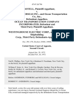 Nick Sotell v. Maritime Overseas Inc., and Ocean Transportation Co., Inc., Ocean Transportation Company Incorporated, and Third Party v. Westinghouse Electric Corp., and New York Shipbuilding Corp., Third Party, 474 F.2d 794, 2d Cir. (1973)