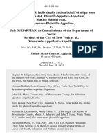 Fannie Jefferies, Individually and on Behalf of All Persons Similarly Situated, Plaintiff-Appellee-Appellant, Maxine Handel, Intervenors-Plaintiffs-Appellees v. Jule Sugarman, as Commissioner of the Department of Social Services of the City of New York, Defendants-Appellants-Appellees, 481 F.2d 414, 2d Cir. (1973)