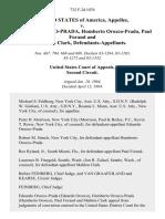 United States v. Eduardo Orozco-Prada, Humberto Orozco-Prada, Paul Forand and Mahlon Clark, 732 F.2d 1076, 2d Cir. (1984)