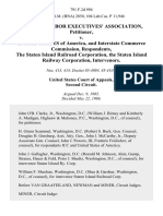 Railway Labor Executives' Association v. United States of America, and Interstate Commerce Commission, the Staten Island Railroad Corporation, the Staten Island Railway Corporation, Intervenors, 791 F.2d 994, 2d Cir. (1986)