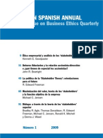 Edición en Español 2009 del Business Ethics Quarterly