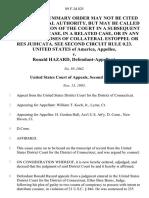 United States v. Ronald Hazard, 89 F.3d 825, 2d Cir. (1995)