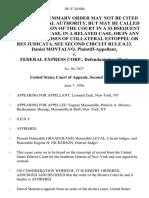 Daniel Montalvo v. Federal Express Corp., 101 F.3d 686, 2d Cir. (1996)
