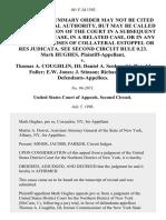Mark Hughes v. Thomas A. Coughlin, III Daniel A. Senkowski Ronald Fuller E.W. Jones J. Stinson Richard Foster, 101 F.3d 1392, 2d Cir. (1996)