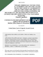 Jackson Square Associates, a New York Limited Partnership v. United States Department of Housing and Urban Development, Buffalo Office-Region II, 108 F.3d 329, 2d Cir. (1997)
