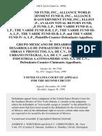 Alliance Bond Fund, Inc., Alliance World Dollar Government Fund Ii, Inc., Alliance Global Dollar Government Fund, Inc., Elliot Associates, L.P., Avalon Total Return Fund, L.P., the Varde Fund, L.P., the Varde Fund Ii-A, L.P., the Varde Fund Ii-B, L.P., the Varde Fund Iii-A, L.P., the Varde Fund Iii-B, L.P. And the Varde Fund Iv-A, L.P., Plaintiffs-Counter-Defendants-Appellees v. Grupo Mexicano De Desarrollo, S.A., Desarrollo De Infraestructura, S.A. De C v.  Obras Y Proyectos, S.A. De C v.  Desarrollo Urbano Integral, S.A. De C v. And Desarrollo Industrial Latinoamericano, S.A. De C v.  Defendants-Counter-Claimants-Appellants, 190 F.3d 16, 2d Cir. (1999)