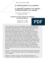 Rajiv Malik, Plaintiff-Appellee-Cross-Appellant v. Carrier Corp., Defendant-Appellant-Cross-Appellee, Regina Kramer, Defendant-Cross-Appellee, 202 F.3d 97, 2d Cir. (2000)