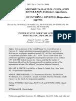 Laurence M. Addington, David M. Cohn, John Sann and Marianne Sann v. Commissioner of Internal Revenue, 205 F.3d 54, 2d Cir. (2000)