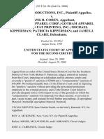MacKler Productions, Inc. v. Frank R. Cohen, Turtle Bay Apparel Corp. Gotham Apparel Corp. Ron Pat Printing, Inc. Michael Kipperman Patricia Kipperman and James J. Clare, 225 F.3d 136, 2d Cir. (2000)
