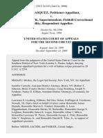 Jose Vasquez v. Wayne Strack, Superintendent, Fishkill Correctional Facility, 228 F.3d 143, 2d Cir. (2000)