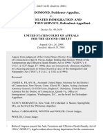 Gyno Domond v. United States Immigration and Naturalization Service, 244 F.3d 81, 2d Cir. (2001)