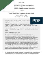 United States v. David Cooper, Esq., 353 F.3d 161, 2d Cir. (2003)
