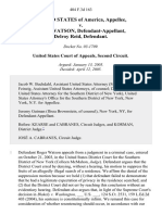United States v. Roger Watson, Delroy Reid, 404 F.3d 163, 2d Cir. (2005)